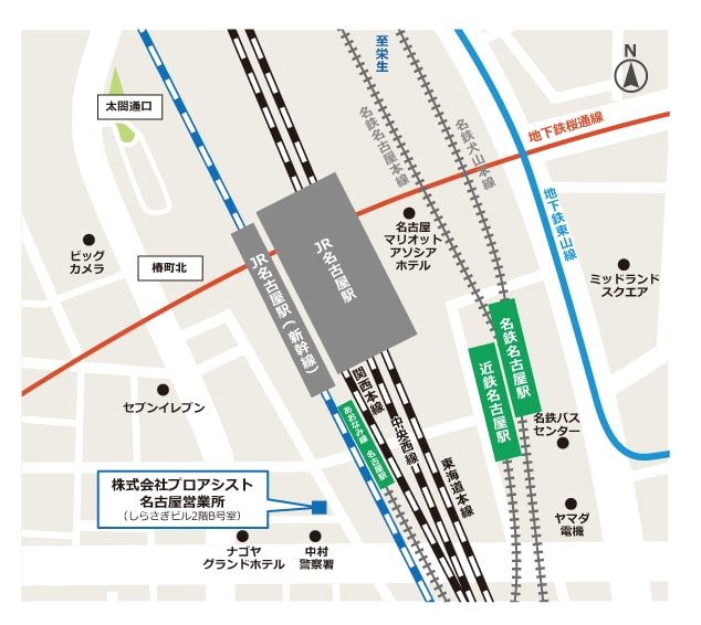プロアシスト名古屋営業所地図